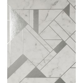 2834-M1467 Gulliver Silver Marble Geometric Wallpaper   The Fabric Co