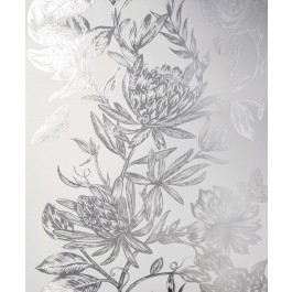 2834-M1473 Marquis Grey Floral Wallpaper | The Fabric Co