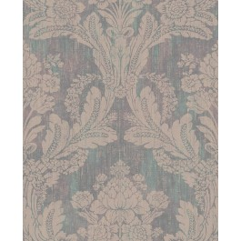 2835-M1407 Zemi Teal Damask Wallpaper | The Fabric Co