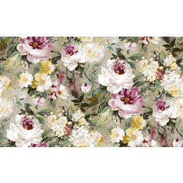 2835-SY5111P Macau Magenta Painterly Floral Wallpaper | The Fabric Co