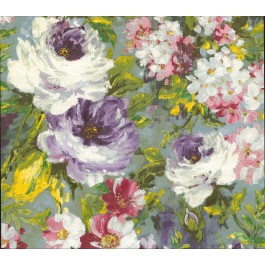 2835-SY5113P Macau Multicolor Painterly Floral Wallpaper | The Fabric Co