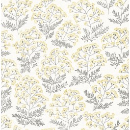 2861-25715 Floret Yellow Floral Wallpaper   The Fabric Co