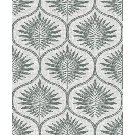 2861-25718 Laurel Grey Ogee Wallpaper | The Fabric Co