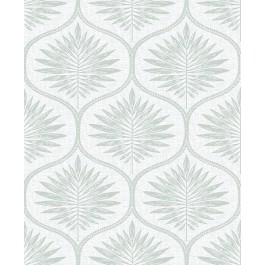2861-25721 Laurel Sage Ogee Wallpaper | The Fabric Co