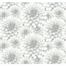 2861-87519 Umbra Light Grey Floral Wallpaper | The Fabric Co