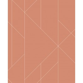 2889-25201 Torpa Coral Geometric Wallpaper | The Fabric Co