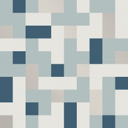 2889-25221 Alby Blue Geometric Wallpaper | The Fabric Co