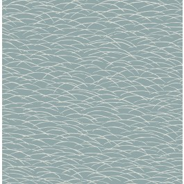 2889-25242 Hono Blue Abstract Wave Wallpaper | The Fabric Co