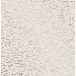 2889-25244 Hono Rose Gold Abstract Wave Wallpaper | The Fabric Co