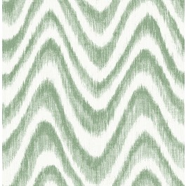 2901-25406 Bargello Green Faux Grasscloth Wave Wallpaper | The Fabric Co