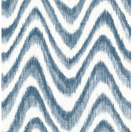 2901-25408 Bargello Blue Faux Grasscloth Wave Wallpaper | The Fabric Co