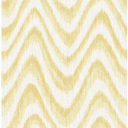 2901-25409 Bargello Yellow Faux Grasscloth Wave Wallpaper   The Fabric Co