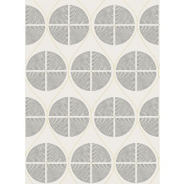 2901-25425 Luminary Grey Ogee Wallpaper | The Fabric Co