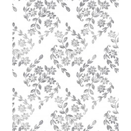 2901-25429 Arabesque Grey Floral Trail Wallpaper | The Fabric Co
