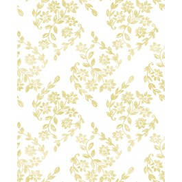 2901-25430 Arabesque Mustard Floral Trail Wallpaper   The Fabric Co