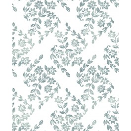 2901-25431 Arabesque Teal Floral Trail Wallpaper | The Fabric Co
