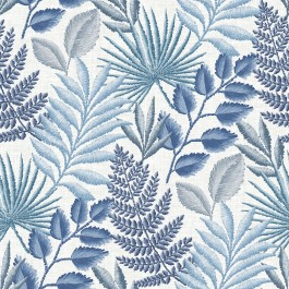 2901-87505 Palomas Blue Botanical Wallpaper | The Fabric Co