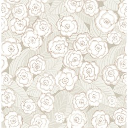 2903-25833 Emery Mauve Floral Wallpaper   The Fabric Co