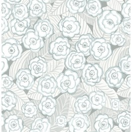 2903-25836 Emery Light Blue Floral Wallpaper | The Fabric Co