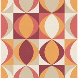 2903-25842 Archer Red Linen Geometric Wallpaper | The Fabric Co