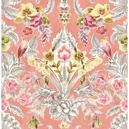 2903-25861 Vera Pink Floral Damask Wallpaper | The Fabric Co