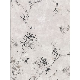 2904-00303 Misty Grey Distressed Dandelion Wallpaper | Brewster | The Fabric Co