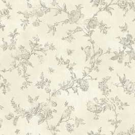2904-02193 French Nightingale Cream Trail Wallpaper   Brewster   The Fabric Co