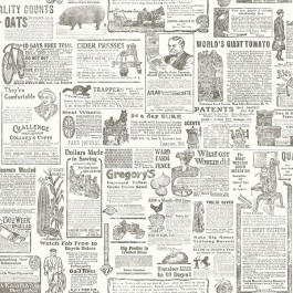 2904-13082 Underwood Brown Newspaper Wallpaper | Brewster | The Fabric Co