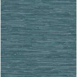 2904-22265 Natalie Teal Weave Texture Wallpaper | Brewster | The Fabric Co