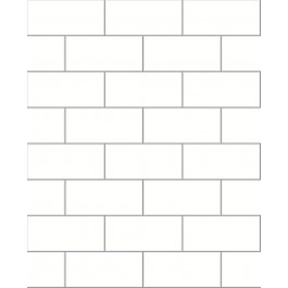 2904-23750 Easton Off-White Subway Tile Wallpaper | Brewster | The Fabric Co
