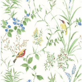 2904-24173 Imperial Garden Green Botanical Wallpaper   Brewster   The Fabric Co