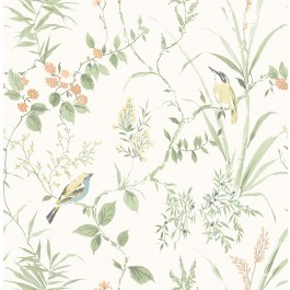 2904-24174 Imperial Garden Sage Botanical Wallpaper | Brewster | The Fabric Co