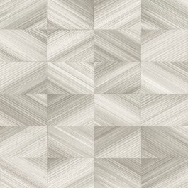 2904-25377 Stratum Taupe Geometric Faux Wood Wallpaper   Brewster   The Fabric Co
