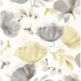 2904-25679 Zahra Grey Floral Wallpaper   Brewster   The Fabric Co