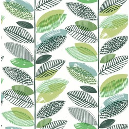 2904-25681 Nyssa Green Leaves Wallpaper | Brewster | The Fabric Co