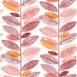 2904-25684 Nyssa Coral Leaves Wallpaper | Brewster | The Fabric Co