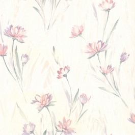 2904-37400 Gloria Eggshell Floral Wallpaper | Brewster | The Fabric Co