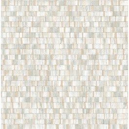 2908-24924 Dobby Champagne Geometric Wallpaper | The Fabric Co