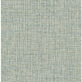 2908-24944 Rattan Teal Woven Wallpaper | The Fabric Co