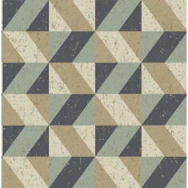 2908-25310 Cerium Multicolor Concrete Geometric Wallpaper | The Fabric Co