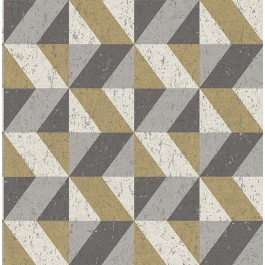 2908-25311 Cerium Metallic Concrete Geometric Wallpaper | The Fabric Co