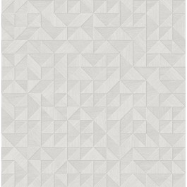 2908-25325 Gallerie Light Grey Geometric Wood Wallpaper | The Fabric Co