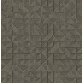 2908-25327 Gallerie Taupe Geometric Wood Wallpaper | The Fabric Co