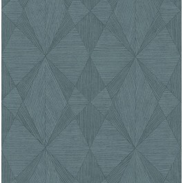 2908-25331 Intrinsic Teal Geometric Wood Wallpaper | The Fabric Co