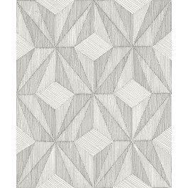 2908-87102 Paragon Silver Geometric Wallpaper | The Fabric Co