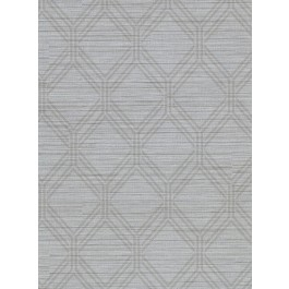 2910-2728 Vaughan Pewter Geometric Wallpaper | The Fabric Co