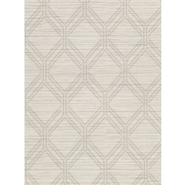 2910-2730 Vaughan Taupe Geometric Wallpaper | The Fabric Co