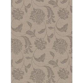2910-2751 Holiday Brown Jacobean Wallpaper   The Fabric Co