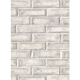 2921-50108 Appleton Grey Faux Weathered Brick Wallpaper   The Fabric Co