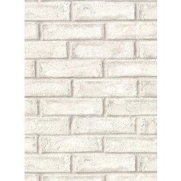 2921-50110 Appleton Off-White Faux Weathered Brick Wallpaper | The Fabric Co